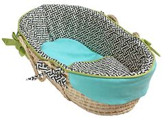 Black and Blue Baby Moses Basket - Baby Moses Basket