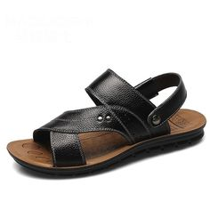 8228ff6951 Men s Leather Fashion Casual Slippers