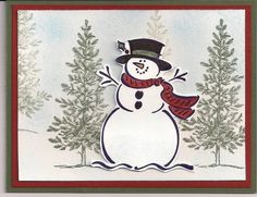Holiday Card by stampin'-wife - Cards and Paper Crafts at Splitcoaststampers Christmas Craft Fair, Christmas Card Crafts, Homemade Christmas Cards, Homemade Cards, Stamped Christmas Cards, Xmas Cards, Holiday Cards, Greeting Cards, Scrapbooking Dies