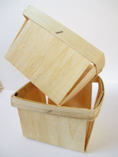 Pint Wood Berry Basket Set of 6 by angieheartsjared on Etsy