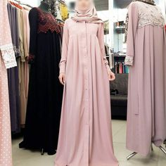 No photo description available. Hijab Gown, Hijab Evening Dress, Modest Outfits, Dress Outfits, Hijab Outfit, Batik Dress, Wool Dress, Chic Dress, Dress Skirt