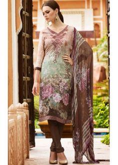 Ayesha Takia In Brown Crepe Churidar Suit  - FA395-7009