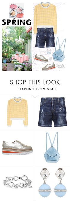 """""""Spring Thing"""" by musicfriend1 ❤ liked on Polyvore featuring Miu Miu, Dsquared2, Carvela, MANU Atelier and David Yurman"""