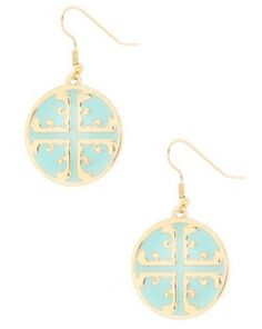 Tory Burch emblem earrings - i love these because they aren't screaming tory burch but when you pay attention you can tell :)