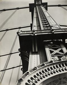 Berenice Abbott (1898–1991)  Manhattan Bridge Looking Up  1936  Gelatin silver print