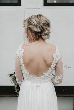 Backless lace wedding dress | Image by Karra Leigh Photography