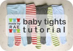 Make your own adorable baby tights with this DIY tutorial from Made By Rae!