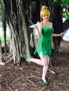Items similar to Tinkerbell Adult Costume on Etsy Tinkerbell Halloween Costume, Dumbo Costume, Tinkerbell Dress, Couple Halloween Costumes, Adult Costumes, Costumes For Women, Family Costumes, Halloween 2020, Halloween Outfits