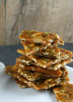 Pumpkin Seed Brittle from @Lisa Phillips-Barton |Authentic Suburban Gourmet