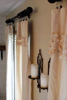 Ruffled curtains #nursery #girl