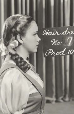 Judy Garland Hair and costume test for The Wizard of Oz