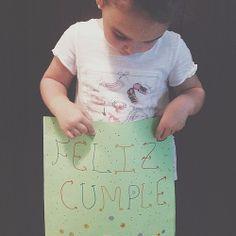 """#reto365 153/365 """"Entre Letras y Felicidades Papá y Hermanito"""" os queremos #entreletras #entrepeques #felizcumple #happybirthday #cumple #weloveyou #osqueremos"""