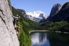 Klettersteig am Gosausee Mount Everest, Mountains, Nature, Travel, Climbing, Destinations, Viajes, Naturaleza, Traveling