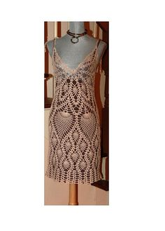 Lace Dress / Crochet Cotton / Cover Up  Made to order by DearAlina, $149.00