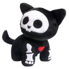 This is a Skelanimals Walking Kit 8 Inch Plush figure that is produced by Toynami. The Skelanimals Walking Kit 8 Inch Plush figure is both adorable and very cute! The Skelanimal Walking Kit plush is a Goodies Manga, Diy Plush Toys, Kawaii Plush, Kawaii Jewelry, Cute Stuffed Animals, Voodoo Dolls, Creepy Cute, Vinyl Toys, Baby Decor