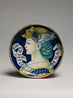 Plate (one of a pair)  Style of Nicola da Urbino (Italian, active by 1520–died ?1537/38 Urbino)