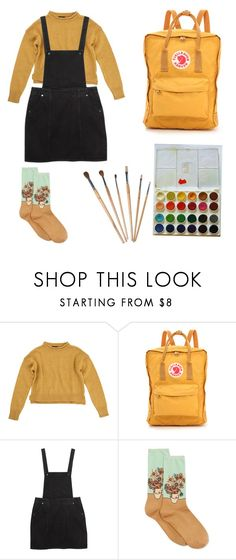 """""""Art hoe casual."""" by http-chapalapachala ❤ liked on Polyvore featuring Topshop, Fjällräven, Monki, HOT SOX, art, hoe and arthoe"""