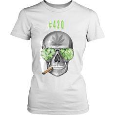 #420 Womens Longs Sleeve Weed Shirt