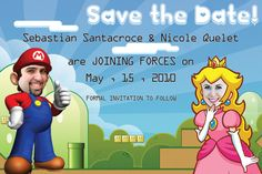 video game save the date
