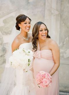 Look it's Tia and Tamera! Also..let this be a warning. No one better be pregnant for this wedding or you're out. That goes for you too, Anna.