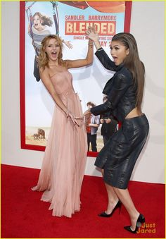 Bella Thorne & Zendaya at the premiere of Blended!