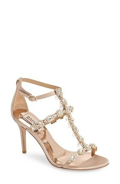 Badgley Mischka 'Cascade' Crystal Embellished T-Strap Sandal (Women) available at #Nordstrom