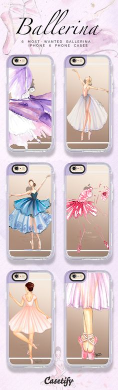 6 Most wanted ballerina iPhone 6 protective phone cases | Click through to see more ballet iPhone phone case >>> https://www.casetify.com/artworks/GxDyoaP2Mw #pastel | @casetify