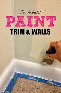 how to paint frames, trim, walls, cabinets, etc. great tips