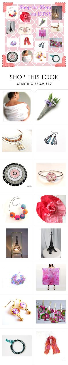 """""""Gifts for Mothers Day on Etsy"""" by glowblocks ❤ liked on Polyvore"""