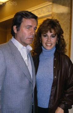 December 14, 1981 ~  Original caption: Hollywood: Robert Wagner goes over the script for Hart to Hart with co-star Stephanie Powers on the set of the show as both are photographed for the first time on the set following the tragedies in their lives. Wagner's wife Natalie Wood died two weeks ago in a drowning accident and Stephanie's long time companion William Holden died last month in a freak accident in his apartment.