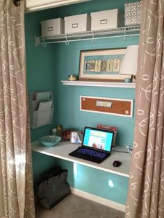 Cool idea for small spaces: Closet Office!