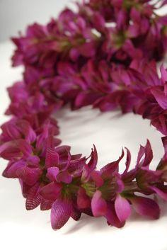 Orchids flowers petals leis pinterest leis silk flowers and silk flower leis purple violet orchid 599 each 6 for 529 each mightylinksfo