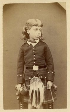 Prince Albert Victor, Grandson of Queen Victoria - portrait taken by W. & D. Downey, London - late 1860s