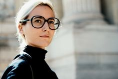 Paris Fashion Week — The Locals – Street Style from Copenhagen and elsewhere Street Style Blog, Street Style Women, Womens Glasses, The Locals, Cool Kids, Nice Dresses, Curly Hair Styles, Man Shop, Style Inspiration