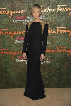 Charlize Theron wearing Alexander McQueen