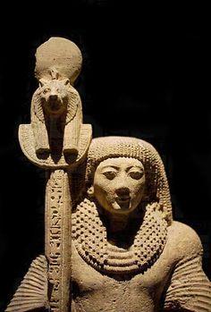 Statue of Neb-Ra, Priest and Standard-bearer of the Goddess Sekhmet; now in the Luxor Museum, EgyptStatue of Neb-Ra, Priest and Standard-bearer of the Goddess Sekhmet; now in the Luxor Museum, Egypt Ancient Egypt Art, Ancient Artifacts, Ancient History, Art History, Amenhotep Iii, Jan Josef Liefers, Kemet Egypt, Luxor Egypt, Arte Tribal