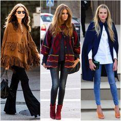 Blanket / poncho / street style