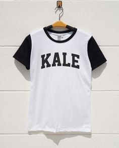 S M L XL  Kale Tshirts Tumblr Fashion Shirts Funny by monopoko