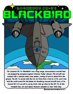 Airport Coloring Book SR-71 finished image