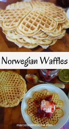 These Norwegian waffles are light with buttermilk, perfumed with cardamom and taste heavenly! These Norwegian waffles are light with buttermilk, perfumed with cardamom and taste heavenly! Norwegian Waffles, Norwegian Cuisine, Norwegian Food, Norwegian Recipes, Swedish Recipes, German Recipes, Waffle Recipes, Raw Food Recipes, Low Carb Recipes