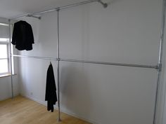 metal pipe wardrobe (for small extra bedroom)