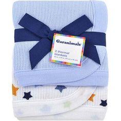 Garanimals Wild Life Thermal Receiving Blankets, 2-Pack