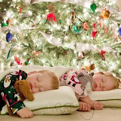 I first took a picture similar to this in 2009 when our daughter was just under 2. This year I decided to attempt it again, as it's been a favorite of mine for years. With the help of my amazing husband, both kids were sleepily tucked under the tree and...perfection. I'm sure I have on my…