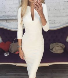 Image about fashion in Moda by Mariana Fabela♡ Classy Dress, Classy Outfits, Chic Outfits, Business Mode, Business Outfits, Elegantes Outfit Frau, Evening Dresses, Prom Dresses, Dress Up