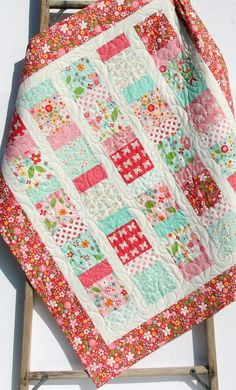 LAST ONE Baby Girl Quilt, Nursery Baby Bedding Blanket, Pink Aqua Butterflies Flowers, Handmade Unique Special Gift Newborn Personalize Name Charm Pack Quilt Patterns, Charm Pack Quilts, Patchwork Quilt Patterns, Patchwork Bags, Quilting Patterns, Sewing Patterns, Baby Patterns, Colchas Quilting, Quilting Projects