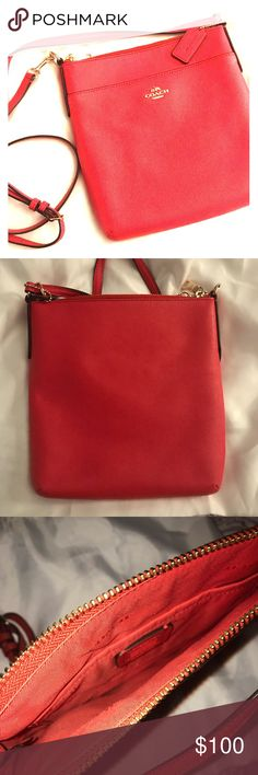 "COACH Orange Crossbody Purse *NWOT* New WITHOUT Tags COACH  Burnt Orange Sling/Crossbody Purse  Comes with Coach dust bag!  Strap falls to 25"" Purse 9"" L & 8"" W  *AUTHENTIC* Coach Bags Crossbody Bags"