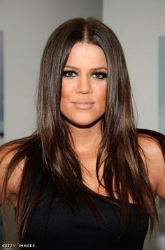 Khloe K. Great hair, great makeup!