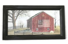 Flag Barn Billy Jacobs Barn Print Art Print Country Decor