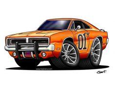 Cartoon cars drawings clipart general lee car dodge charger (b-body) Cartoon Car Drawing, Car Drawings, Cars Cartoon, Cartoon Ideas, General Lee, Weird Cars, Cool Cars, Truck Art, Garage Art