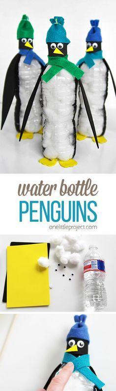 Pinguine aus Plastikflaschen!
